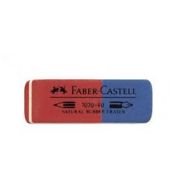 Faber-castell gomme combinée en caoutchouc 7070-40, rouge /