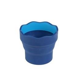 Faber-castell gobelet clic & go, bleu, en plastique