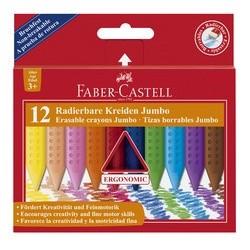 Faber-castell craies effacables jumbo, étui carton de 12