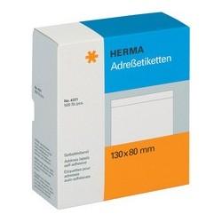 Herma étiquettes d'adresse, 148 x 105 mm, séparées, blanches