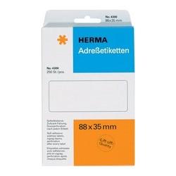 Herma étiquettes d'adresse, 67 x 35mm, plié en zigzag, blanc