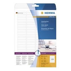 Herma étiquettes de diapos special, 43,2 x 8,5 mm, blanc