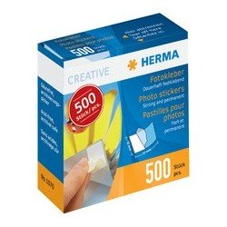 Herma pastilles pour photos dans un carton distributeur,