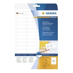Herma etiquettes couvrantes/ correctrices special, 64,6 x
