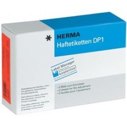 Herma étiquettes adhésives dp1, 32 mm de diamètre, jaune