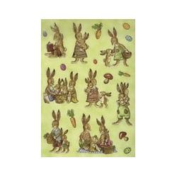 "Herma stickers de pâques decor ""lapins nostalgiques"""