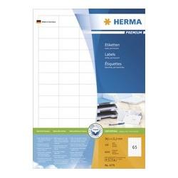 Herma etiquettes universelles premium, 105 x 37 mm, blanc
