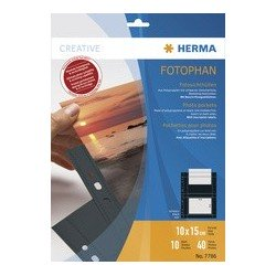 Herma pochettes photos fotophan a4, pour photos 9 x 13 cm,