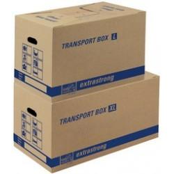 Tidypac carton de transport l, avec porte-étiquettes, (LOT DE 10)