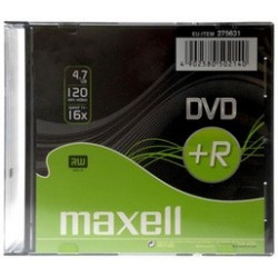 Maxell dvd+r 120 minutes, 4,7 gb, 16x, slim case, (LOT DE 10)