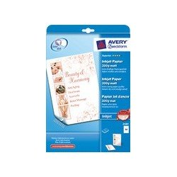 Avery zweckform papier jet d'encre, a4, 170 g/m2, blanc,