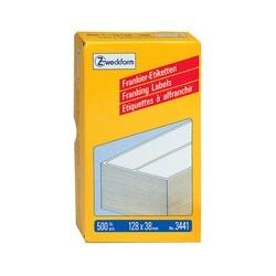 Avery zweckform étiquettes à affranchir simples, 130 x 40 mm