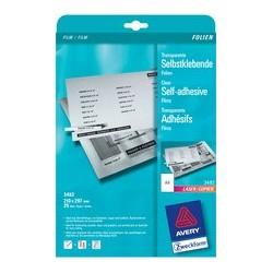 Avery zweckform films a4 transparents pour imprimantes laser