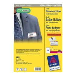 Avery zweckform badge avec combi-pince , 90 x 54 mm