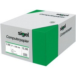 """Sigel papier listing sans fin, 240 mm x 12"""" (30,48 cm), a4"""