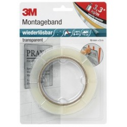 "3m scotch bande de montage ""enlevable"", 19mm x 5m,"
