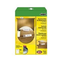 Sigel etiquettes pc pour dossiers suspendus, 58 x 18 mm