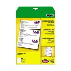 Sigel cartes de correspondance pc, format dl, blanc, 185g/m2
