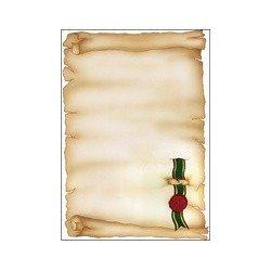 """Sigel papier design, format a4, 185 g/m2, motif """"parchemin"""