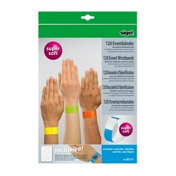 """Sigel bracelets  id. """"super soft"""", petit paquets, jaune néon"""
