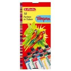 Herlitz gouache en tube, couleurs assorties, boîte de 10,
