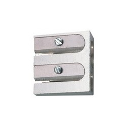Herlitz taille-crayons duo, en aluminium, forme biseautée