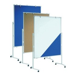 Maul tableau d'information, textile bleu/tableau blanc