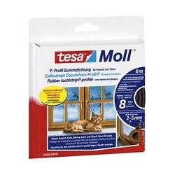 Tesa moll classic p-profil calfeutrage caoutchouc, marron