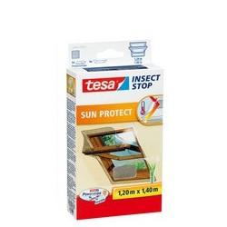 Tesa moustiquaire avec protection solaire pour fenêtre à