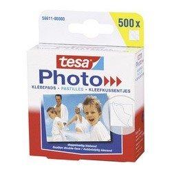 Pastilles adhésives pour photos tesa photo, blanc, fixation