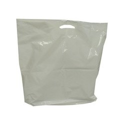 Happel sac poly, blanc, ldpe, (l)380 x (p)50 x (h)450mm