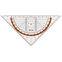 Rotring équerre géométrique centro avec poignée, hypoténuse: