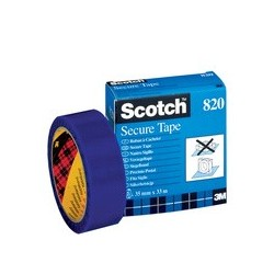 3m scotch  rouleau de ruban à cacheter, 35 mm x 33 m, bleu
