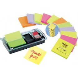 Post-it  distributeur z-notes, 86x46x103 mm, co.: noir/trans