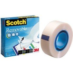3m scotch magic ruban adhésif 811, détachable, 19 mm x 33 m
