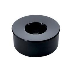 Durable cendrier kulan, rond, noir, avec couvercle