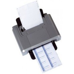 Durable planches d'impression pour badges, 30 x 60 mm, blanc