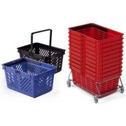 Durable panier à provision shopping basket 19, rouge