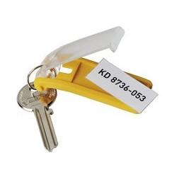 Durable porte-clés key clip, jaune