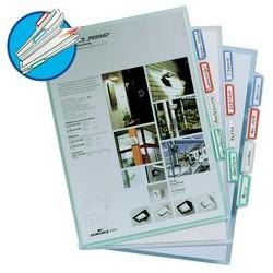 Durable pochettes coins à onglets, format a4, en pp