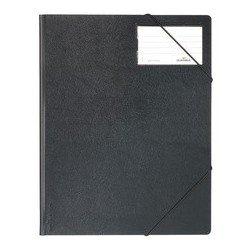 Durable chemise à élastique premium, format a4, noir