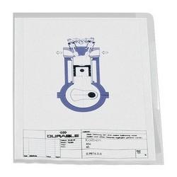 Durable pochette ouverte en coin, a4, en pp 0,12 mm, bleu