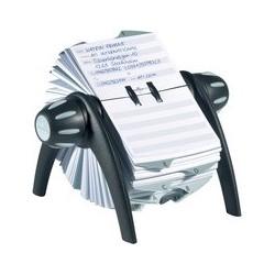 Durable fichier rotatif teleindex flip, argent métal./ noir