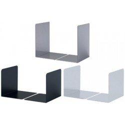 Durable serre-livres en acrylique s, en acier, noir