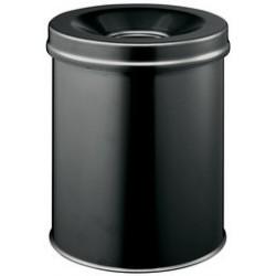 Corbeille à papier durable safe, ronde, 15 litres, noire
