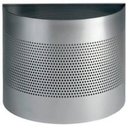 Durable corbeille à papier demi-cercle, 20 litres, argent