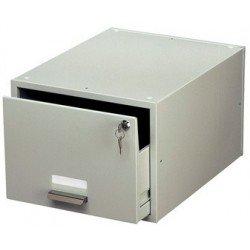 Durable tiroir pour fiches bristoles, en acier, gris, équipé