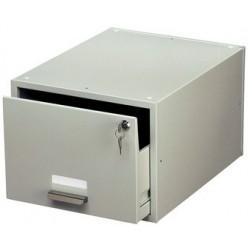 Durable tiroir pour fiche bristole en acier, a5, gris, non