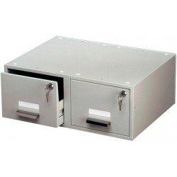 Durable tiroir pour fiche duo, en acier, format a5, gris