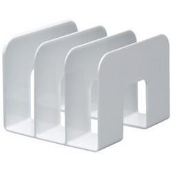 Durable porte-revues trend, plastique,3 compartiments, blanc